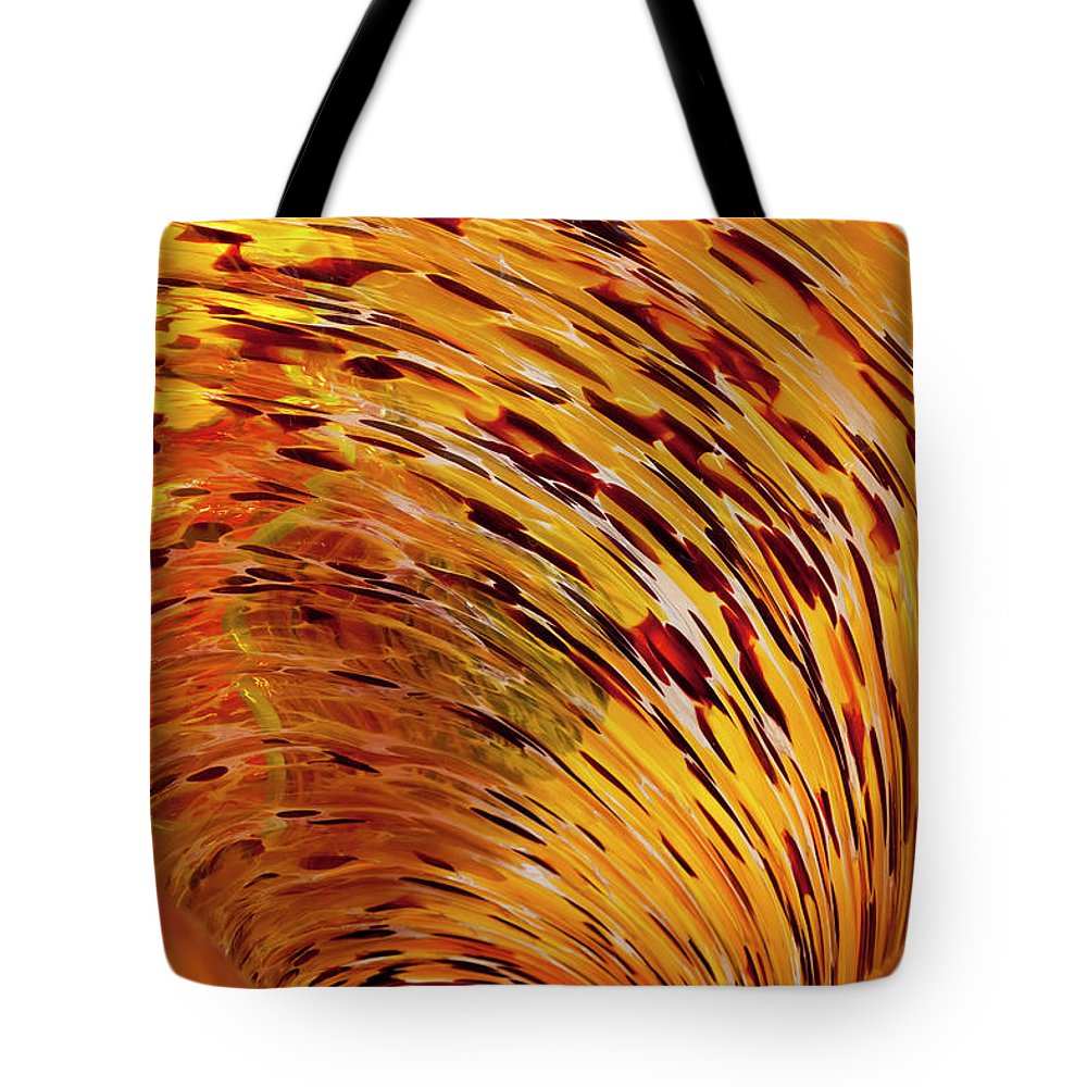 Blown Glass Tote Bag featuring the photograph Flushed by Janet Fikar