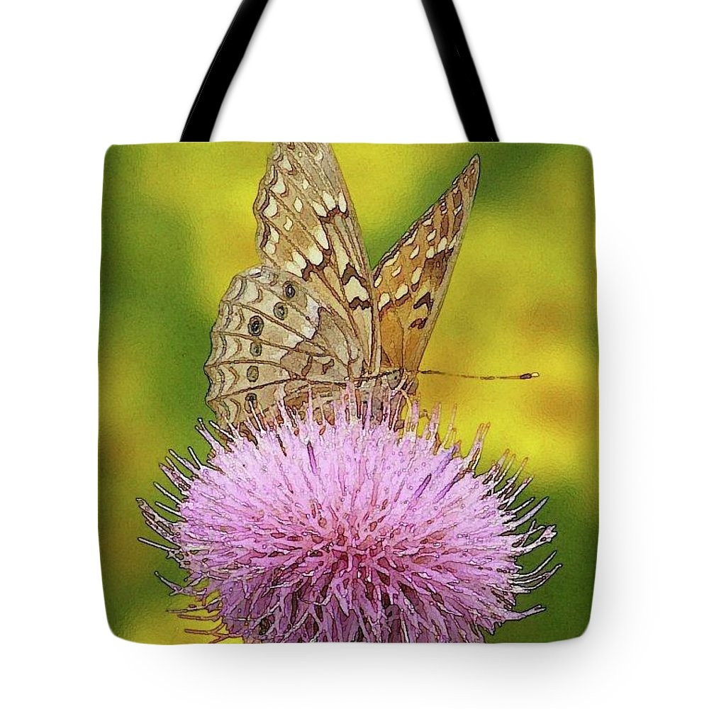 Tote Bag featuring the photograph Flutterby by Amber Stubbs