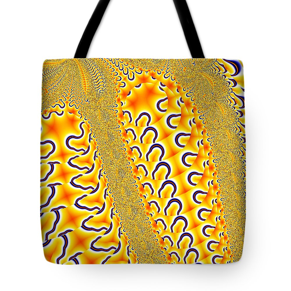 Clay Tote Bag featuring the digital art Flux by Clayton Bruster