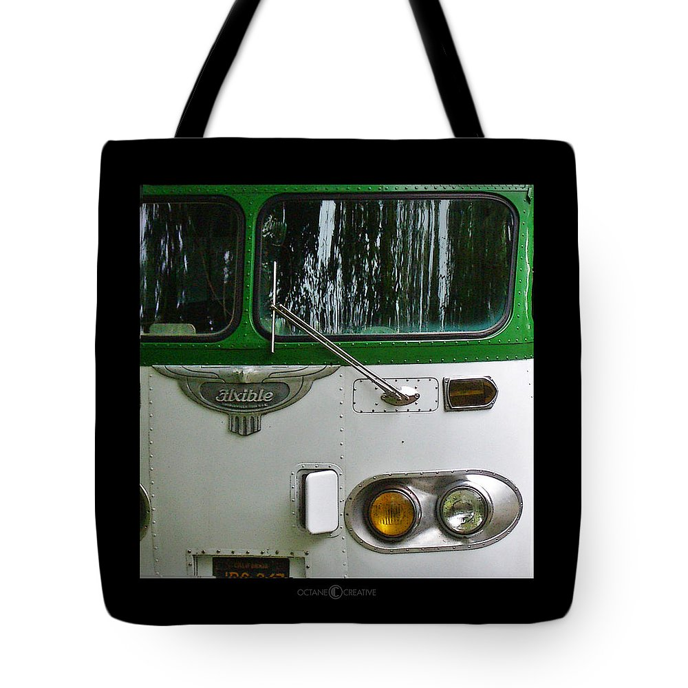 Flxible Tote Bag featuring the photograph Flxible by Tim Nyberg