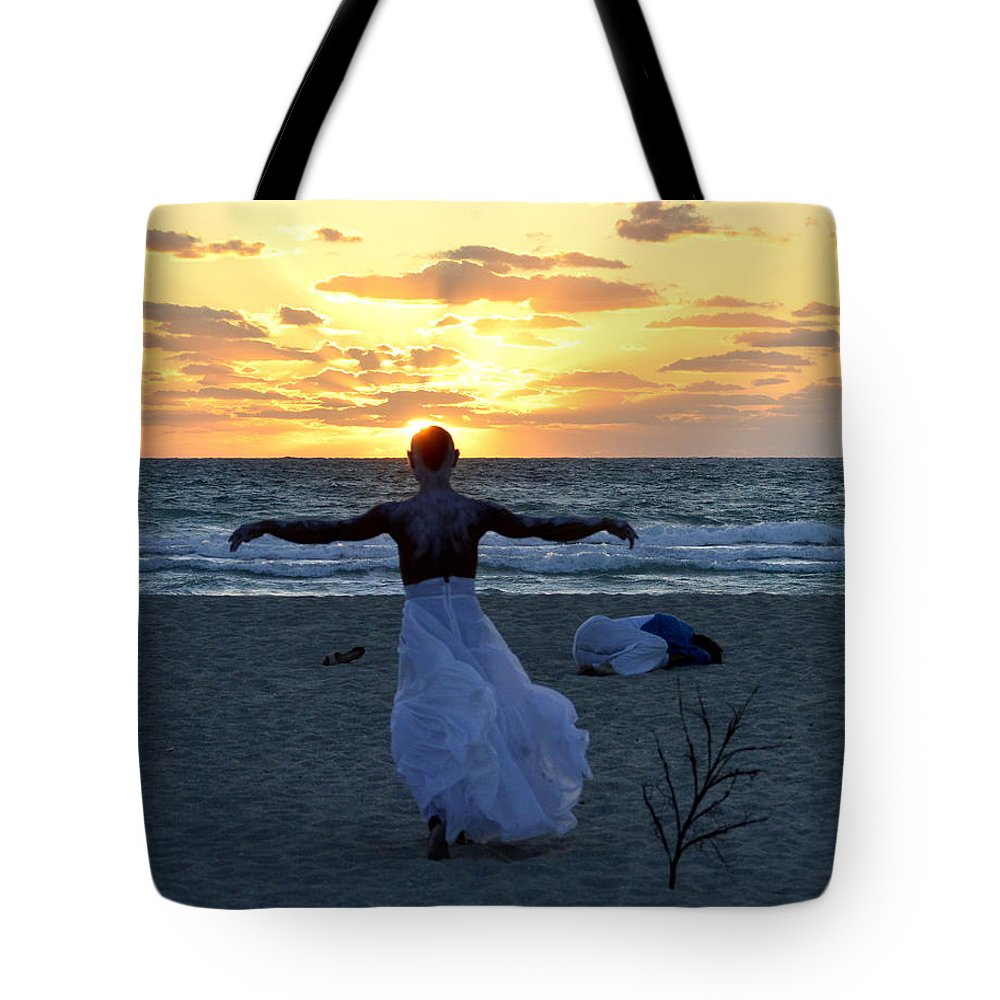 Javier Cordoba Tote Bag featuring the photograph Fly To Sun by Lenin Caraballo