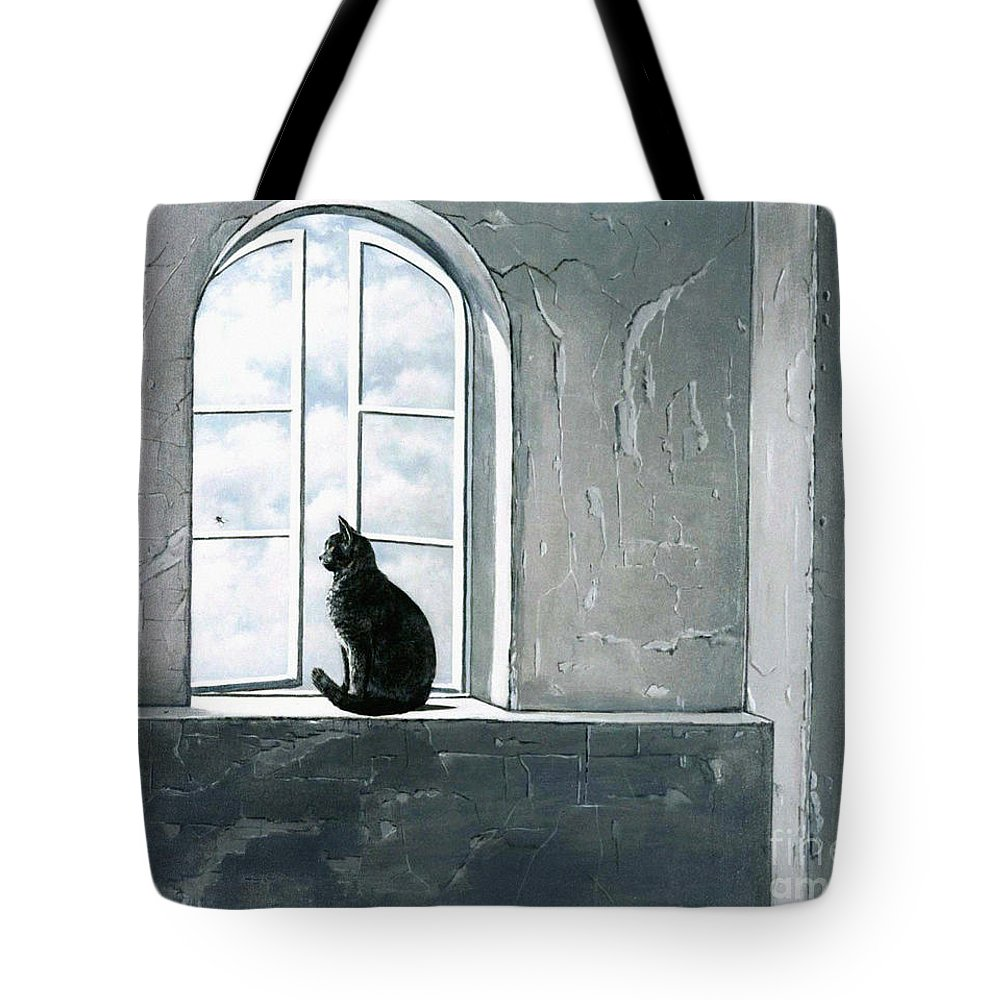 Pet Tote Bag featuring the painting Fly Watching by Robert Foster