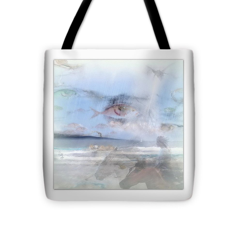 Eyes Tote Bag featuring the photograph Flying Fishes by Freddy Kirsheh