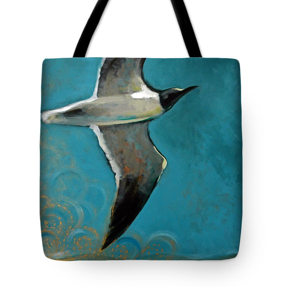 Acrylic Tote Bag featuring the painting Flying Free by Suzanne McKee