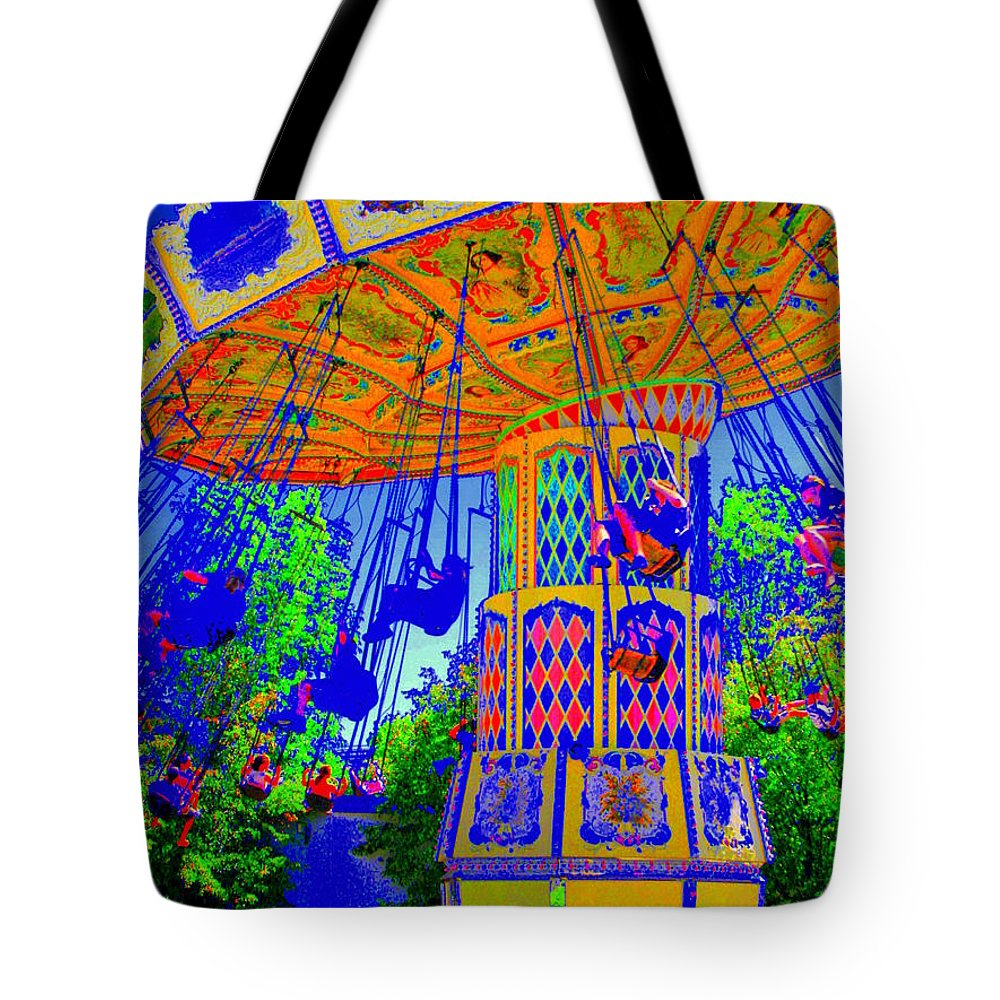 Flying High Tote Bag featuring the photograph Flying High by Ed Smith