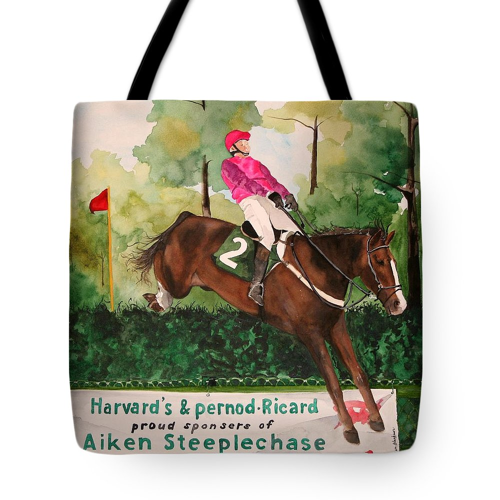 Horse Tote Bag featuring the painting Flying High by Jean Blackmer