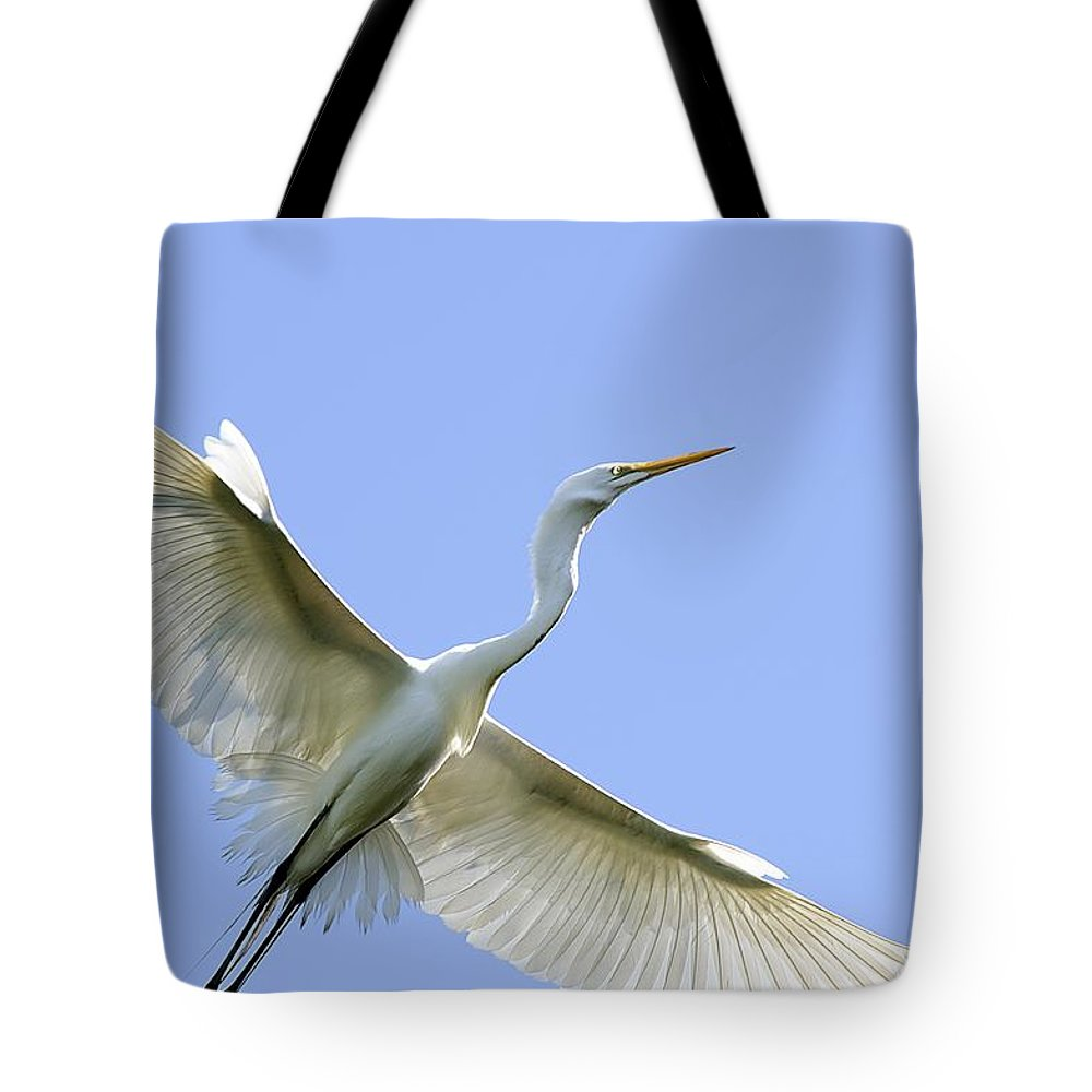 Birds Tote Bag featuring the photograph Flying High by Kenneth Albin