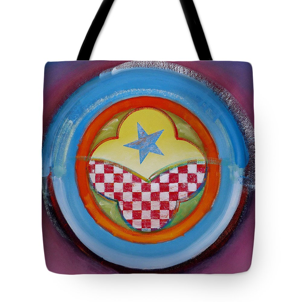 Logo Tote Bag featuring the painting Flying Star by Charles Stuart