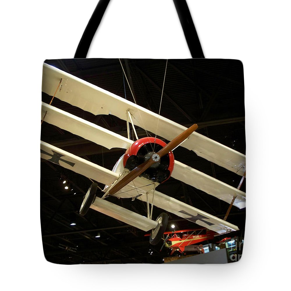 Focker Tri-plane Tote Bag featuring the photograph Focker Tri-plane by Tommy Anderson