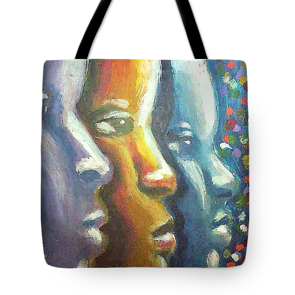 Color Tote Bag featuring the painting Focus by Jan Gilmore