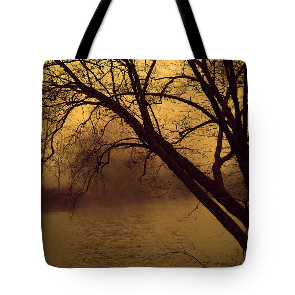 Landscape Tote Bag featuring the photograph Fog In The Morning. by Itai Minovitz