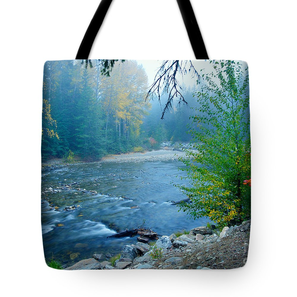 Nason Creek Tote Bag featuring the photograph Fog In The Wenatchee Forest by Idaho Scenic Images Linda Lantzy