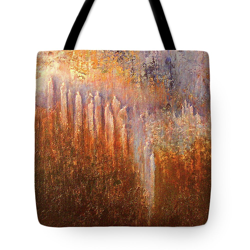 Acrylic Tote Bag featuring the painting FOG by Jean-luc Lacroix