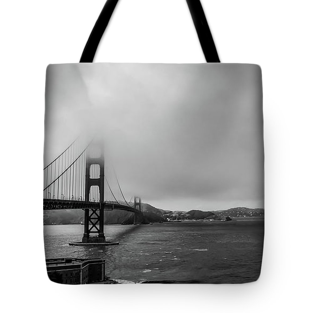 Golden Gate Bridge Tote Bag featuring the photograph Fog Over The Golden Gate Bridge by Ant Pruitt