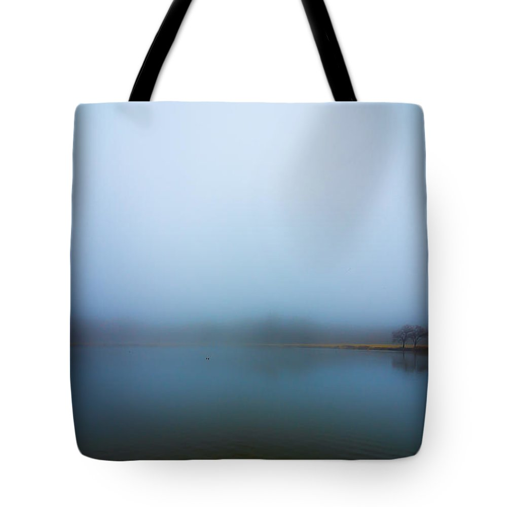 Tote Bag featuring the photograph Foggy Morn by David Downs