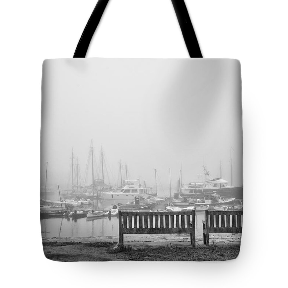 Fog Tote Bag featuring the photograph Foggy Morning On The Sea by Vic Bouchard