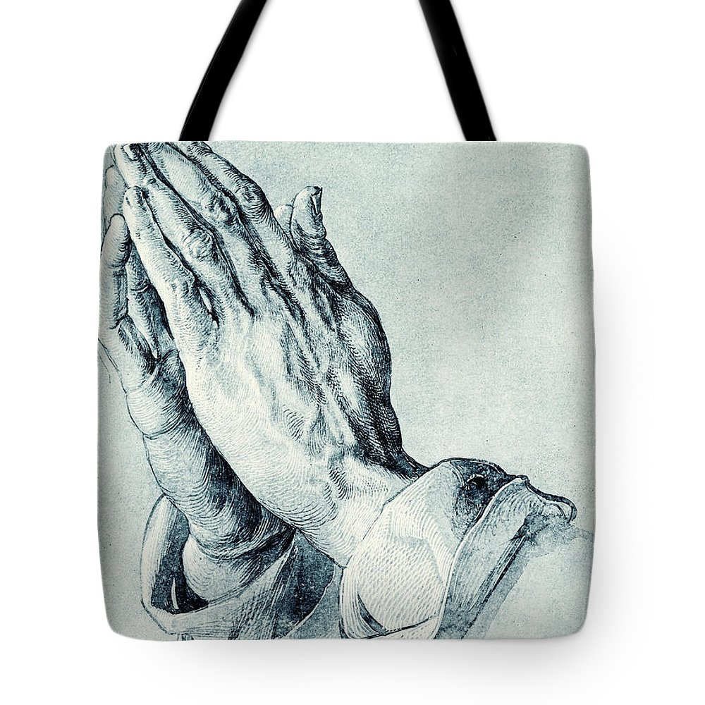 61760ed279eb Folded Hands Of An Apostle Tote Bag for Sale by Albrecht Durer