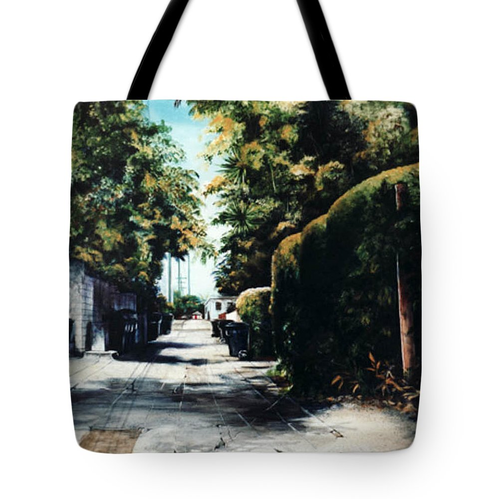 Cityscapes Tote Bag featuring the painting Foliage by Duke Windsor