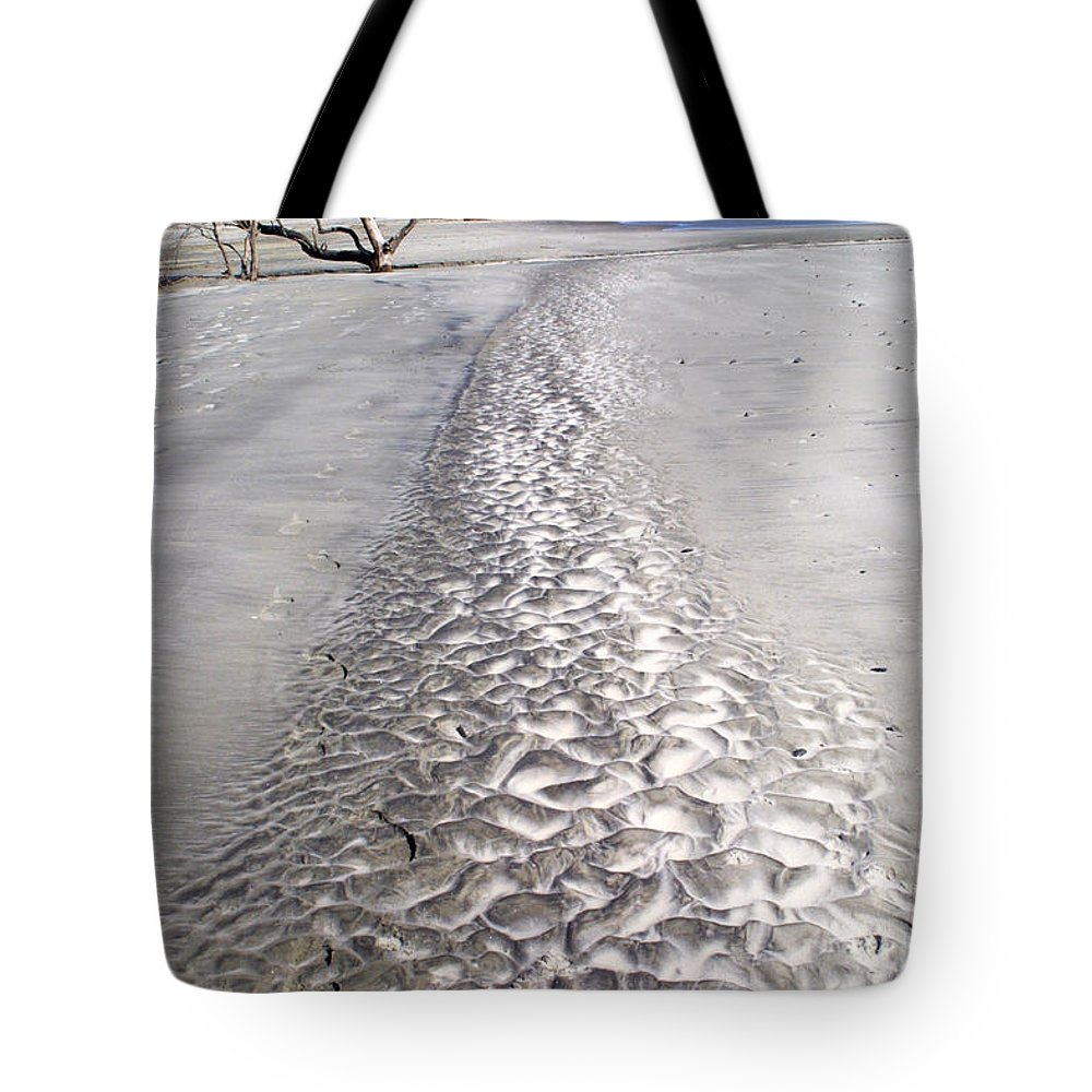 Beaches Tote Bag featuring the photograph Follow The Trail by Jean Wolfrum