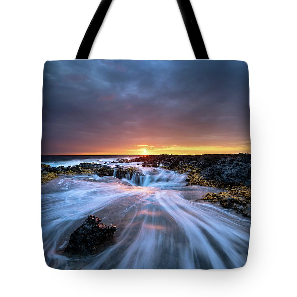 Landscape Tote Bag featuring the photograph Follow Through by Christopher Johnson