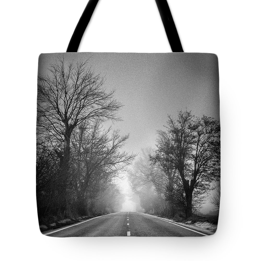 Retro Tote Bag featuring the photograph Follow Your Dreams  Monochrome by Guido Montanes Castillo