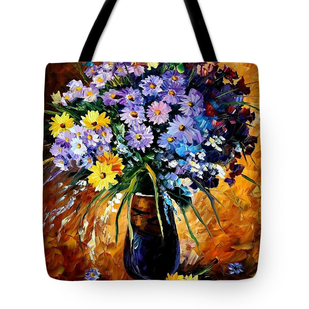 Afremov Tote Bag featuring the painting Fondness by Leonid Afremov