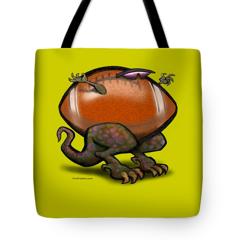 Football Tote Bag featuring the digital art Football Beast by Kevin Middleton