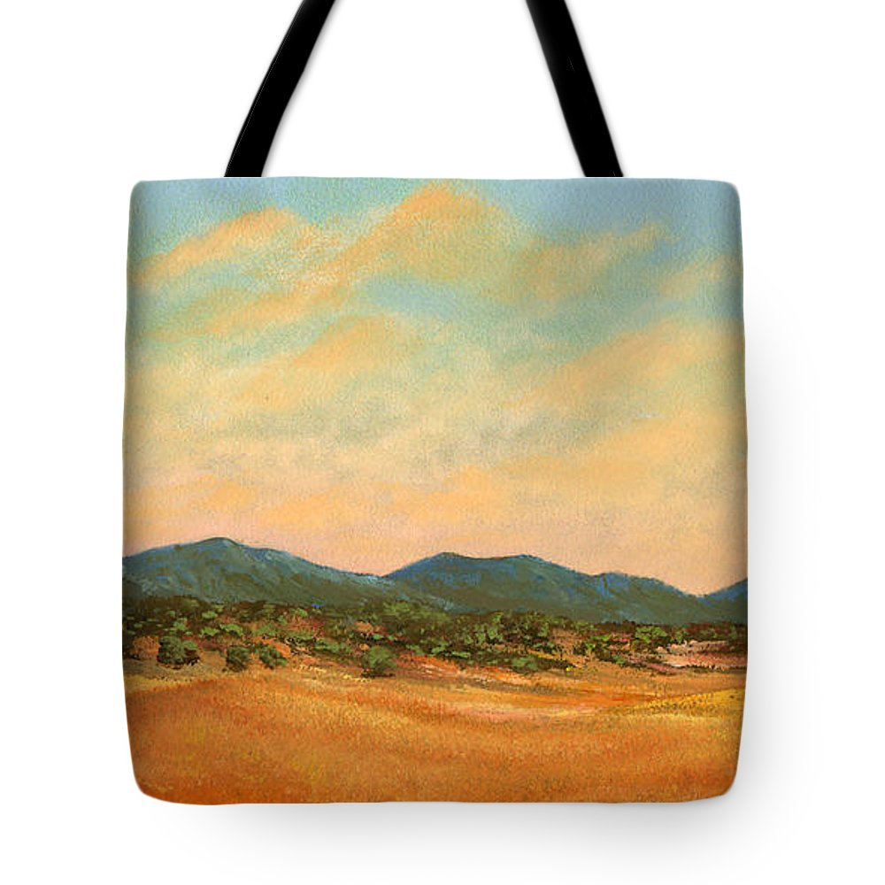 Landscape Tote Bag featuring the painting Foothills by Frank Wilson