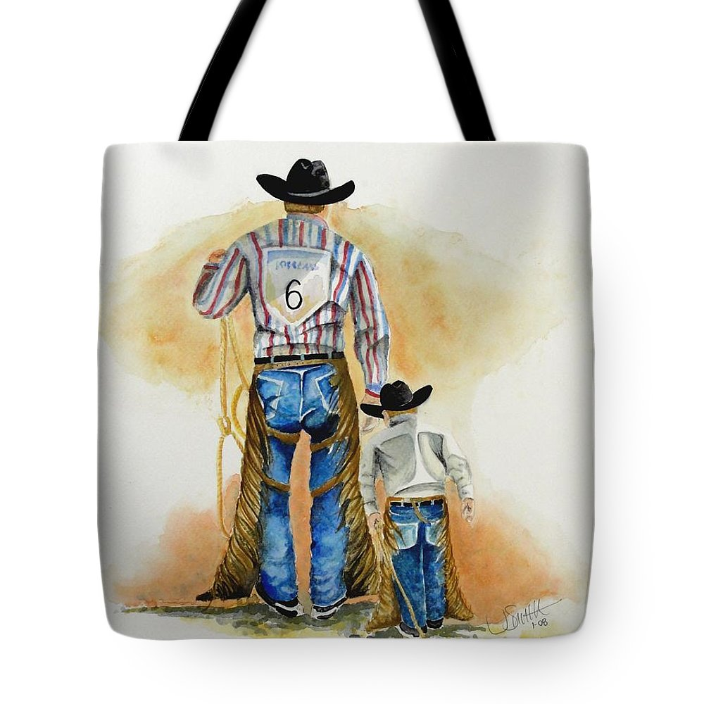 Bull Tote Bag featuring the painting Footsteps by Jimmy Smith