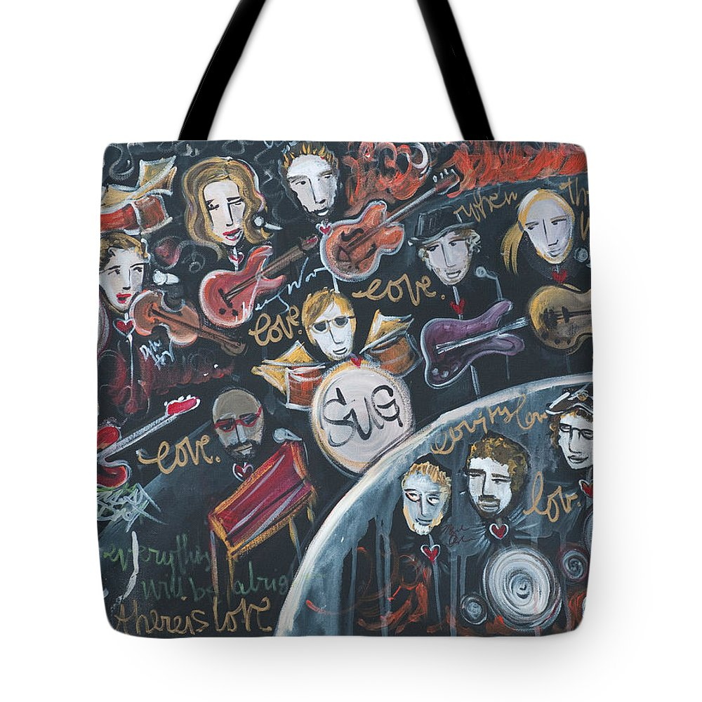 Live Painting Tote Bag featuring the painting For Ben by Laurie Maves ART