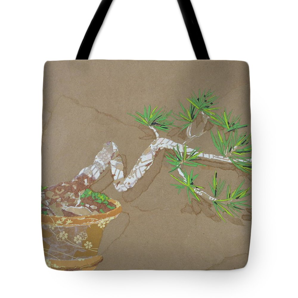 Banzai Tree Tote Bag featuring the painting For Inge by Leah Tomaino