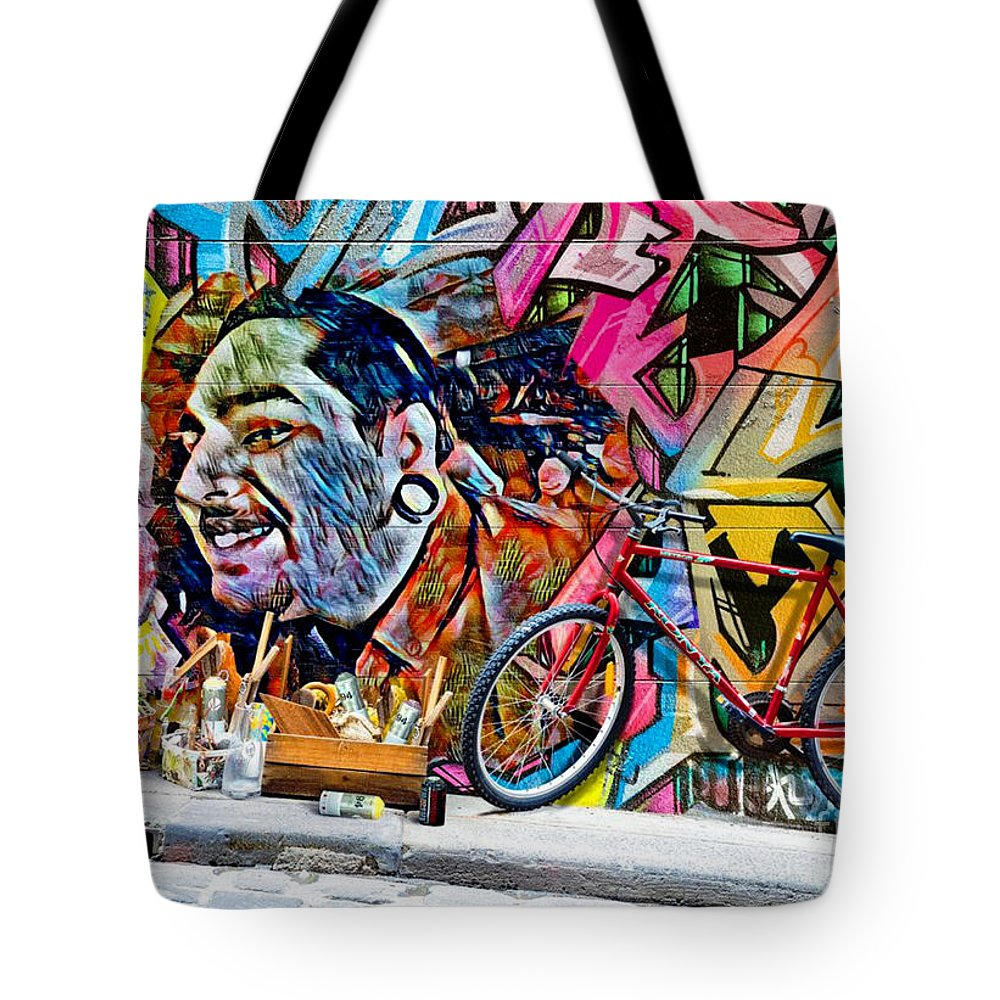 Jonathan Tote Bag featuring the digital art For Jonathan by Michael Knight
