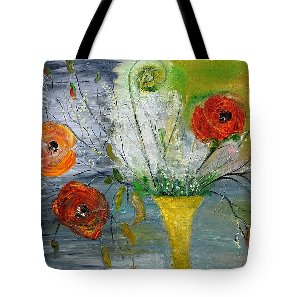 Floral Tote Bag featuring the photograph For Mom by Evelina Popilian