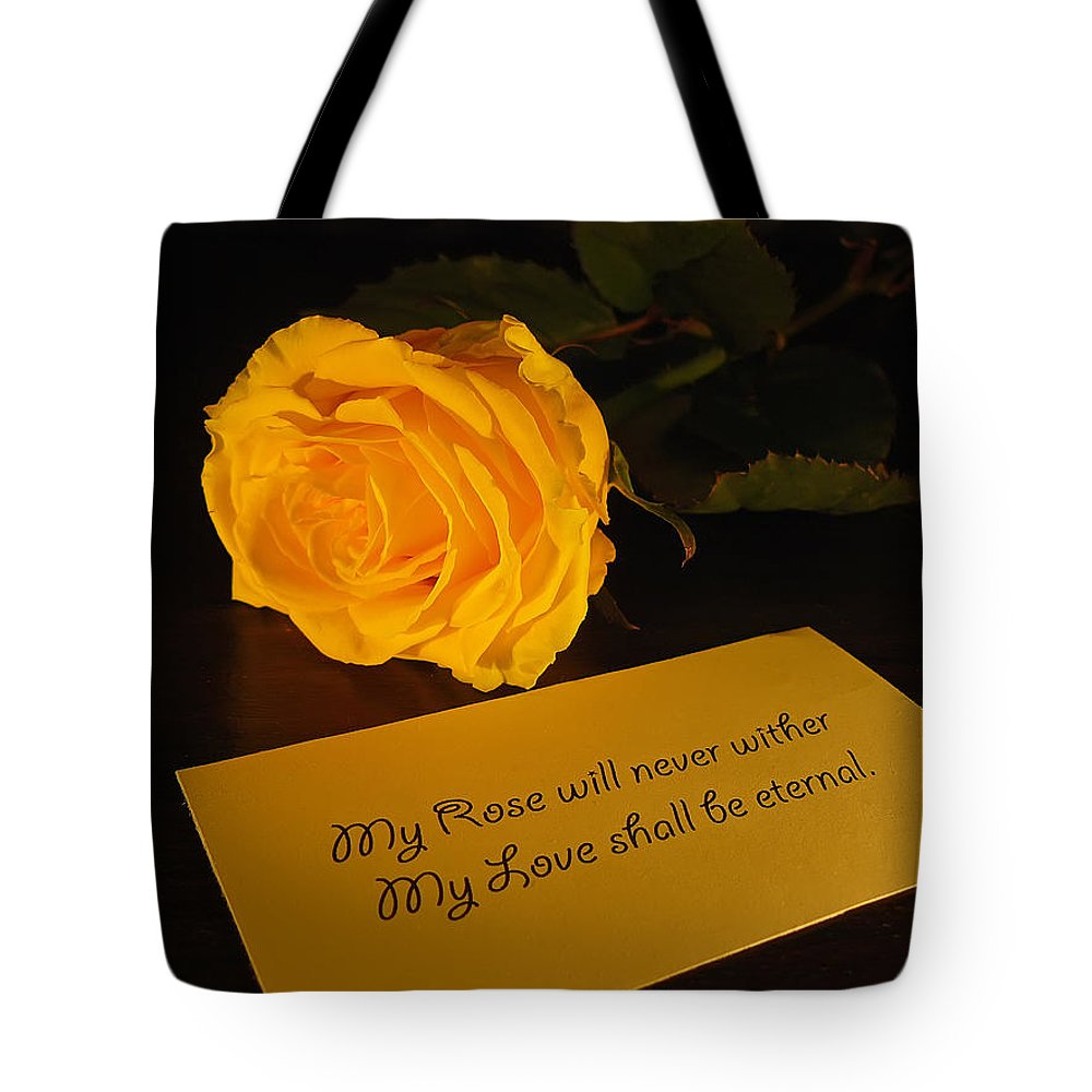 Valentine Tote Bag featuring the photograph For My Love by Daniel Csoka