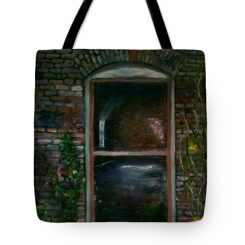Landscape Tote Bag featuring the painting For Rent by Stephen King