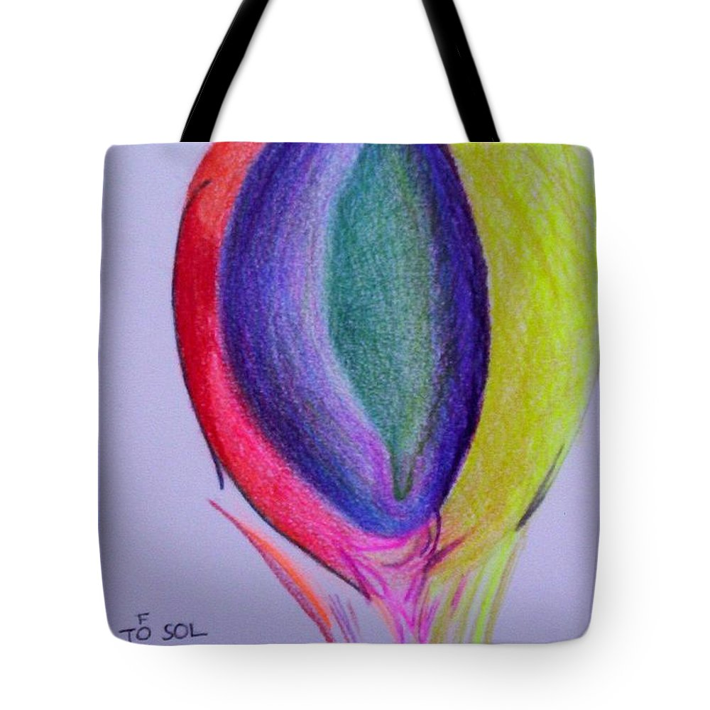 Abstract Tote Bag featuring the painting For Sol by Suzanne Udell Levinger
