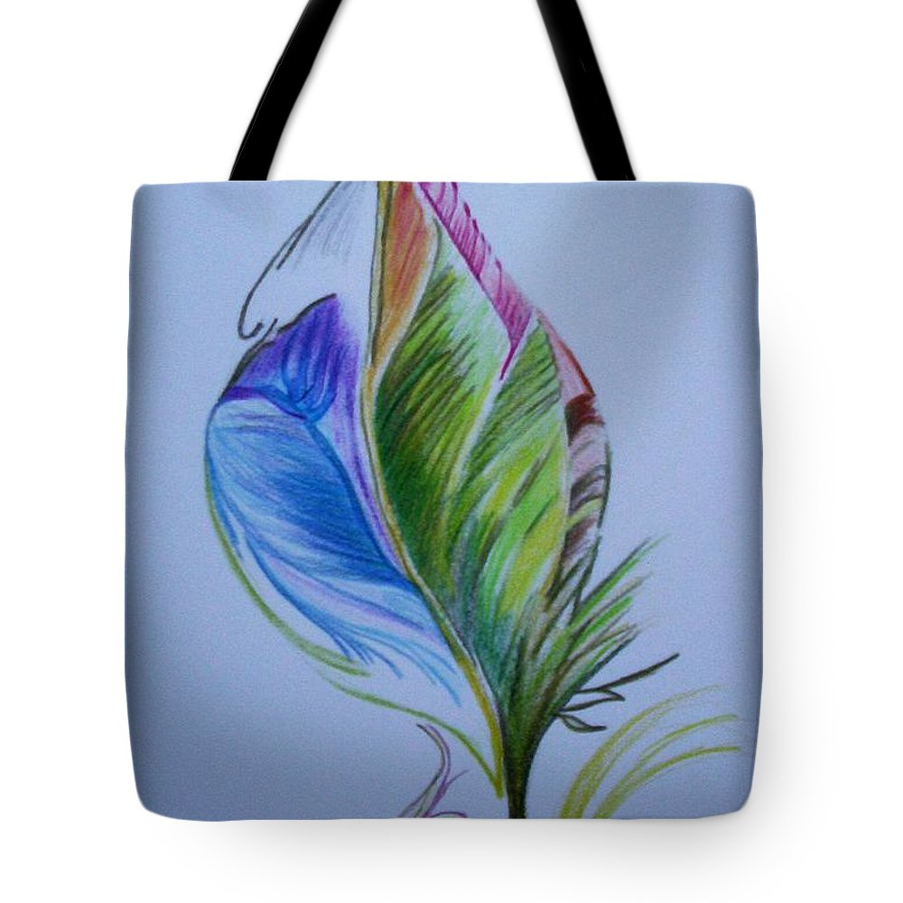 Abstract Tote Bag featuring the drawing For Starters by Suzanne Udell Levinger