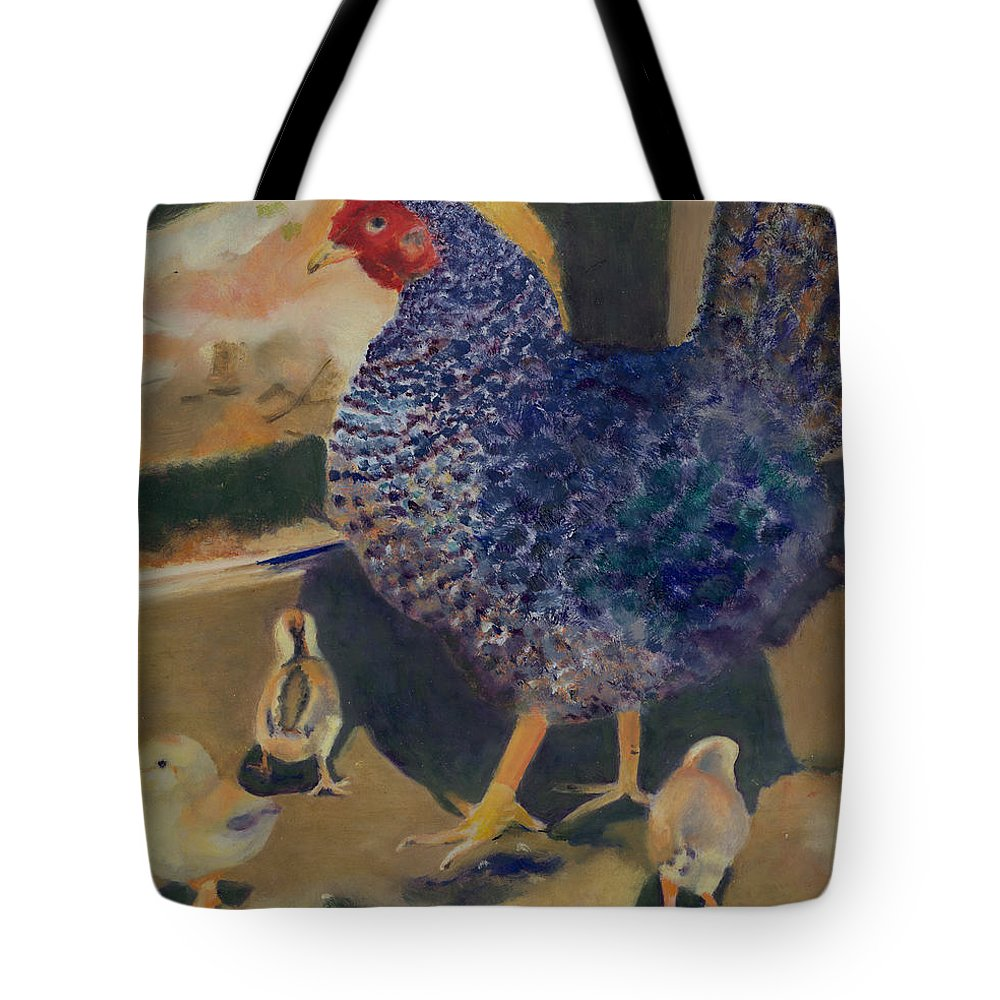 Animal Tote Bag featuring the painting For The Birds by Paula Emery