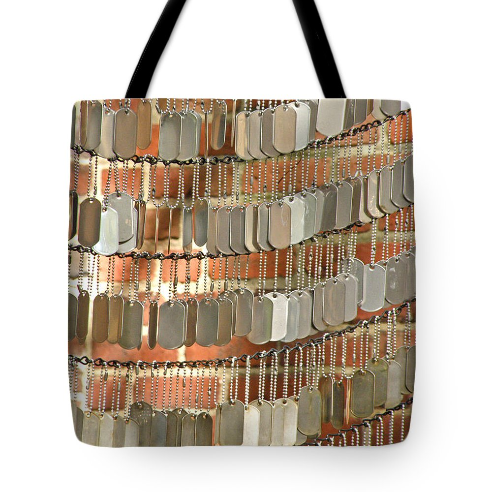 Memorials Tote Bag featuring the photograph For The Fallen by Donna Shahan