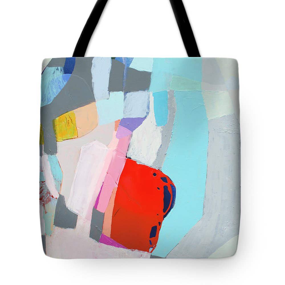 Abstract Tote Bag featuring the painting For What You Are by Claire Desjardins