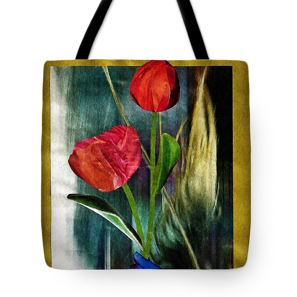Hand Tote Bag featuring the mixed media For You by Sarah Loft