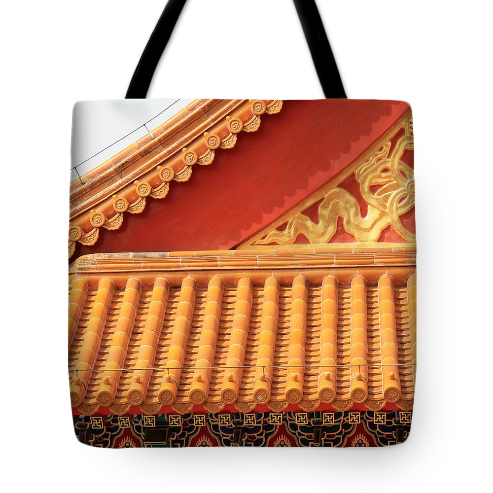 Roofs Tote Bag featuring the photograph Rooftop Splendor by Carol Groenen