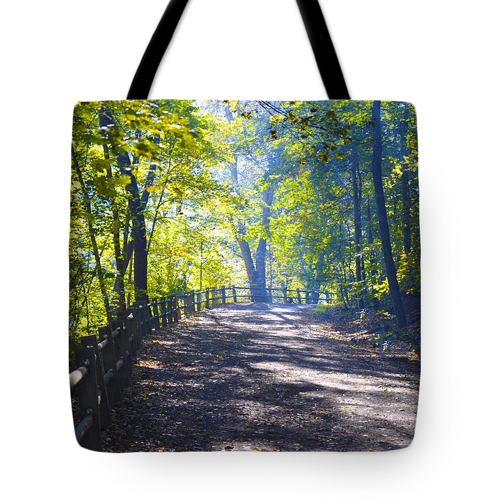 Wissahickon Tote Bag featuring the photograph Forbidden Drive - Philadelphia by Bill Cannon