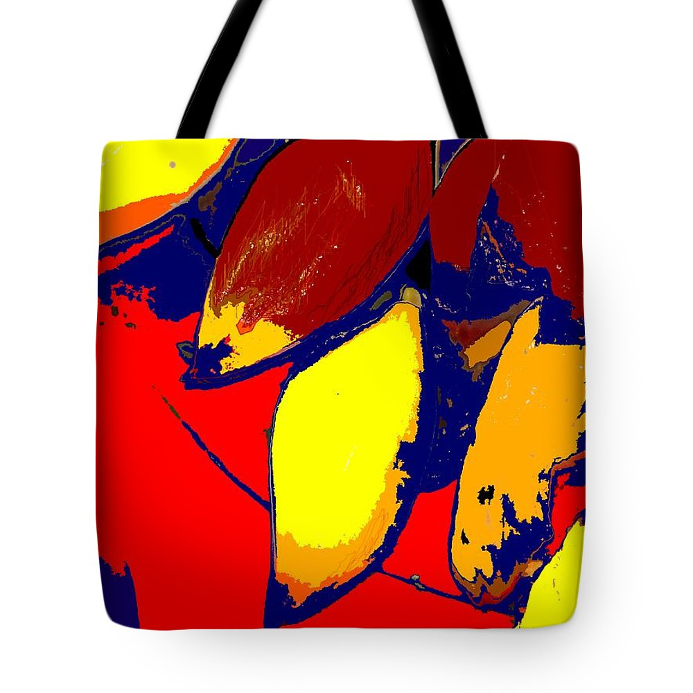 Red Tote Bag featuring the photograph Forbidden Fruit by Ian MacDonald