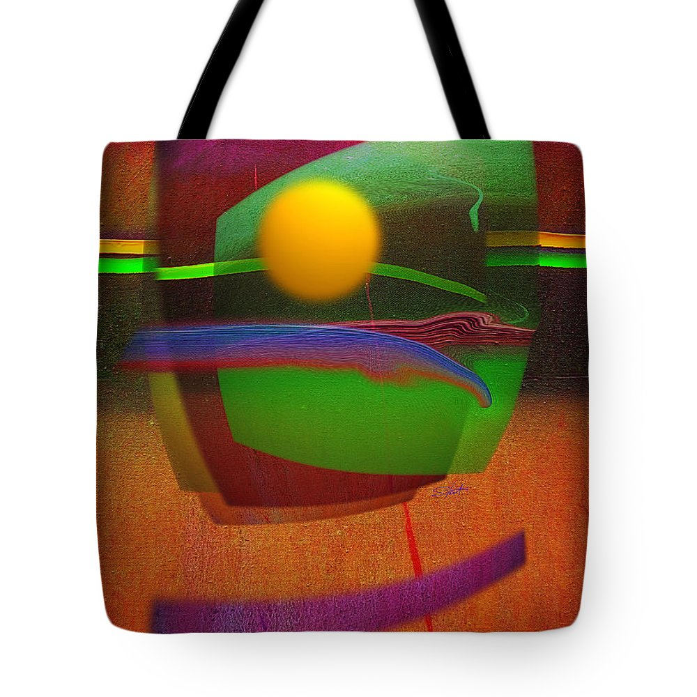 Abstract Tote Bag featuring the painting Forbidden Planet by Charles Stuart