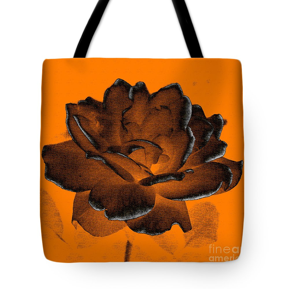 Rose Tote Bag featuring the photograph Forced Into Shape by Amanda Barcon