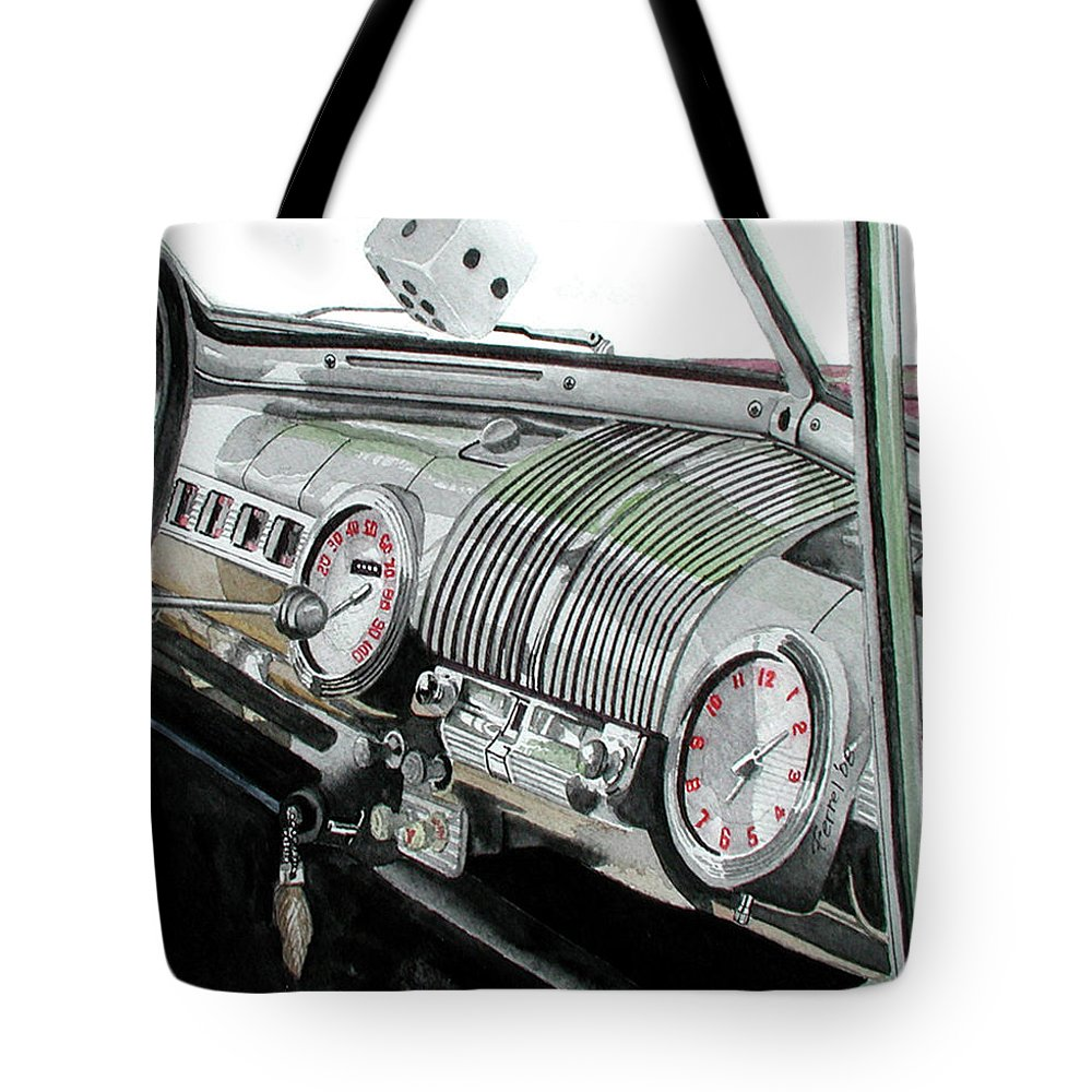 Car Tote Bag featuring the painting Ford Dash by Ferrel Cordle
