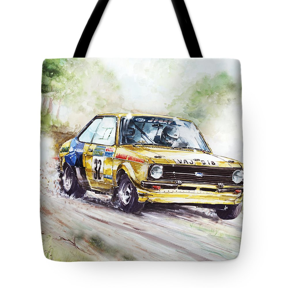Ford Escort Mk2 Rally Car Tote Bag for Sale by Geoff Latter
