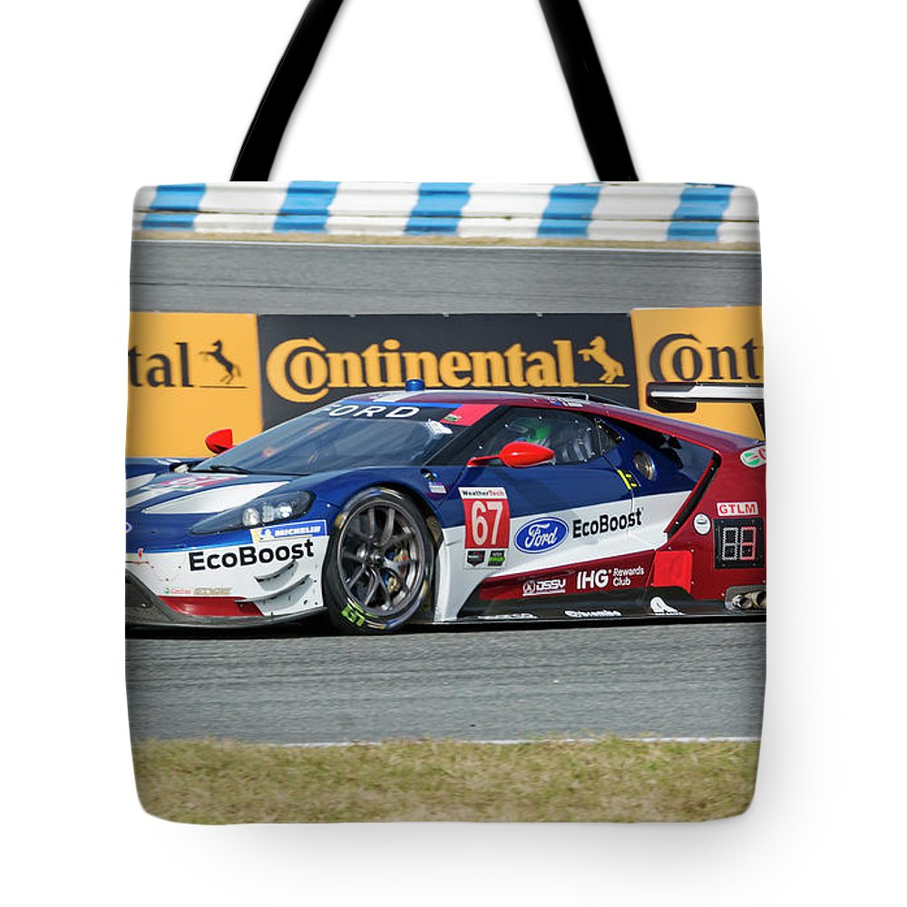 Automobile Tote Bag Featuring The Photograph Ford Gt Winner Gtlm Class Of The