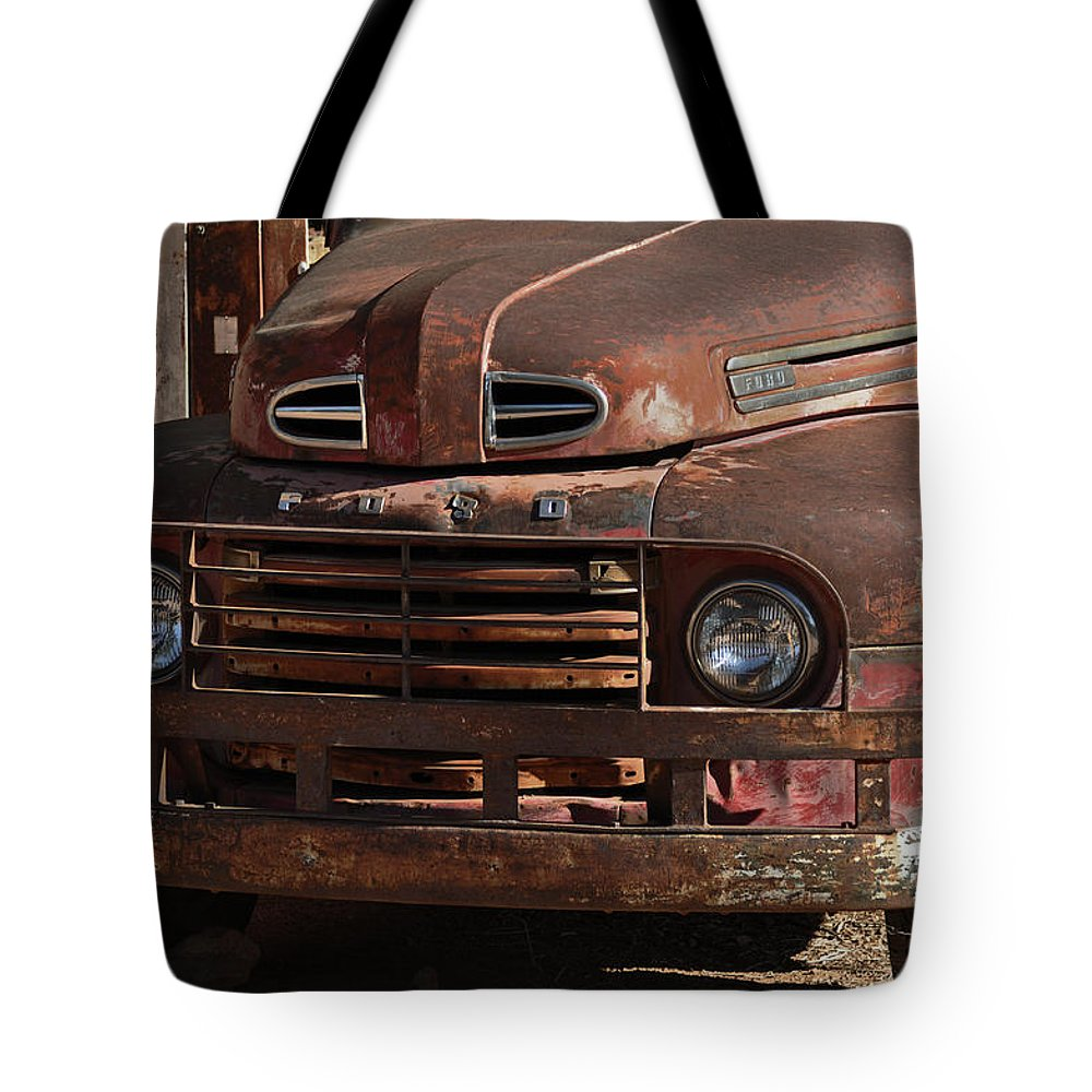 Rust Tote Bag featuring the photograph Ford by Mark Pratt